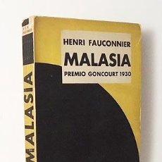 Libros antiguos: FAUCONNIER : MALASIA. (DÉDALO, 1931. CUBIERTA DE MAURICIO AMSTER. . Lote 109811415