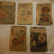 Libros antiguos: LOTE DE CINCO PEQUEÑOS LIBROS. LES CONTES DEL VIEUX JAPÓN. CUATRO EN FRANCÉS Y UNO EN PORTUGUÉS.. Lote 109844227