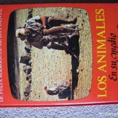 Libros antiguos: LOS ANIMALES EN SU PROPIO MEDIO AMBIENTE-DR.FELIX RODRIGUEZ DE LA FUENTE-AÑO 1.976. Lote 109844707