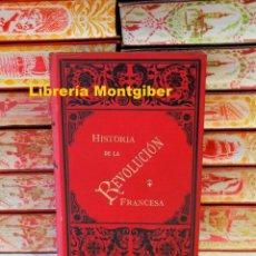 Libros antiguos: LA REVOLUCION . PRECEDIDA DE LA CRÍTICA DE LA MISMA . 2 TOMOS EN 1 VOLUMEN. AUTOR : QUINET, EDGAR . Lote 109854047