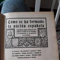 Libros antiguos: COMO SE HA FORMADO LA NACION ESPAÑOLA. COLECCION DE APUNTES. 1928. MADRID. TIP. MODERNA. Lote 110027655