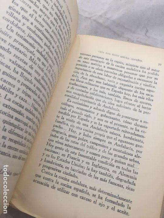 Libros antiguos: Guia Buen comer Español 1929 Dionisio Perez Patronato Turismo República Española Intonso - Foto 5 - 110083551