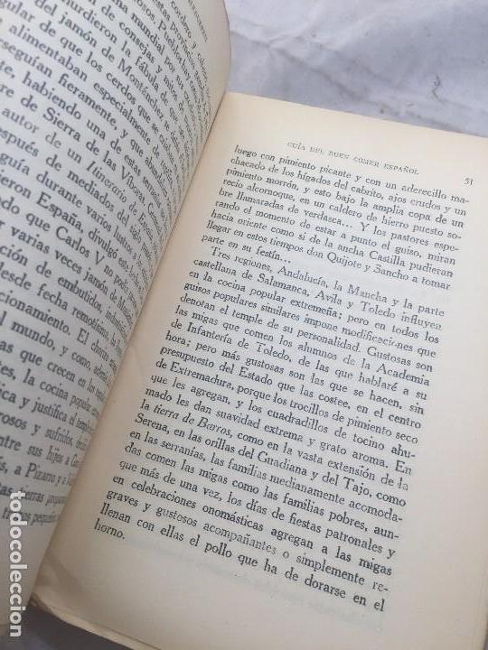Libros antiguos: Guia Buen comer Español 1929 Dionisio Perez Patronato Turismo República Española Intonso - Foto 6 - 110083551