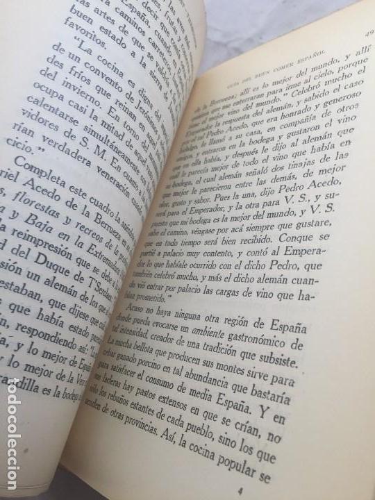 Libros antiguos: Guia Buen comer Español 1929 Dionisio Perez Patronato Turismo República Española Intonso - Foto 7 - 110083551