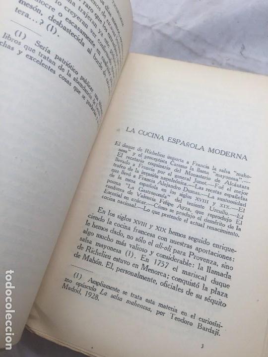 Libros antiguos: Guia Buen comer Español 1929 Dionisio Perez Patronato Turismo República Española Intonso - Foto 8 - 110083551