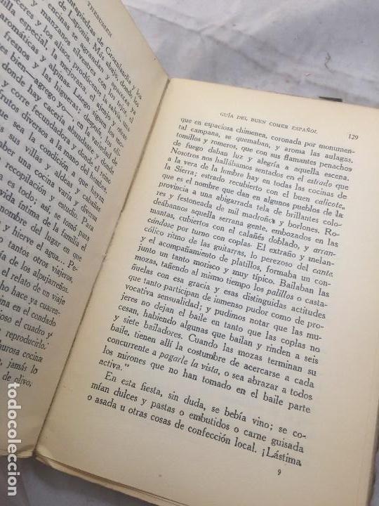 Libros antiguos: Guia Buen comer Español 1929 Dionisio Perez Patronato Turismo República Española Intonso - Foto 9 - 110083551