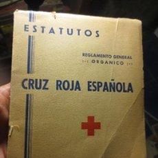 Libros antiguos: ESTATUTOS CRUZ ROJA 1959 REGLAMENTO GENERAL Y CARTA DE ALICANTE . Lote 110131371