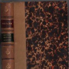 Libros antiguos: SATIRES EPITRES CONTES / VOLTAIRE / MUNDI-2991. Lote 110190151