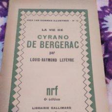 Libros antiguos: CYRANO DE BERGERAC. Lote 110298615