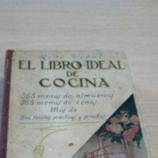 Libros antiguos: EL LIBRO IDEAL DE COCINA POR RENE VIDAL LIBRERIA RENACIMIENTO PRECIADOS 46 MADRID. Lote 110470411