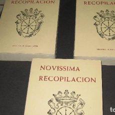 Libros antiguos: NOVISSIMA RECOPILACIÓN DE LAS LEYES DEL REINO DE NAVARRA. PAMPLONA, 1964. 3 TOMOS.. Lote 110487203