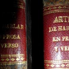 Libros antiguos: ARTE DE HABLAR EN PROSA Y VERSO, JOSÉ GÓMEZ HERMOSILLA, IMPRENTA REAL, 1826, DOS TOMOS. Lote 110582943