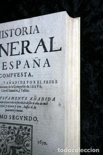 Libros antiguos: 1650 - HISTORIA GENERAL DE ESPAÑA JUAN DE MARIANA - TOMO SEGUNDO - EXCELENTE ESTADO - Foto 18 - 110746427