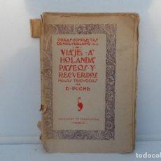 Libros antiguos: VIAJE A HOLANDA . PASEOS Y RECUERDOS - PAUL VERLAINE OBRAS COMPLETAS DE PAUL VERLAINE. VOL. IX. Lote 110859467