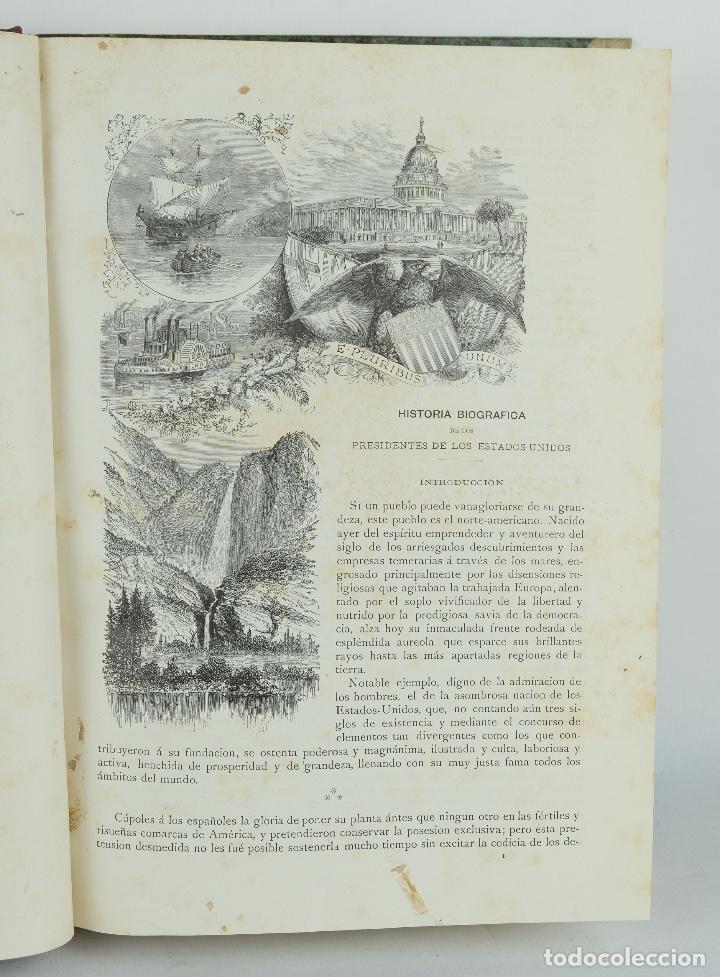Libros antiguos: Historia biográfica de los presidentes de los Estados Unidos-Enrique Leopoldo de Verneuill 1885 - Foto 5 - 110920763