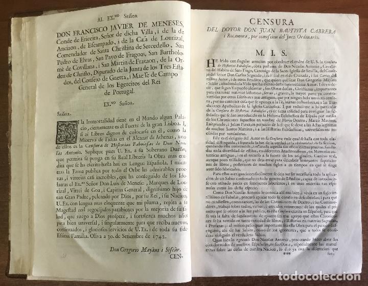 Libros antiguos: CENSURA DE HISTORIAS FABULOSAS. OBRA POSTHUMA... Van añadidas algunas cartas del mismo autor, i de o - Foto 3 - 109021191