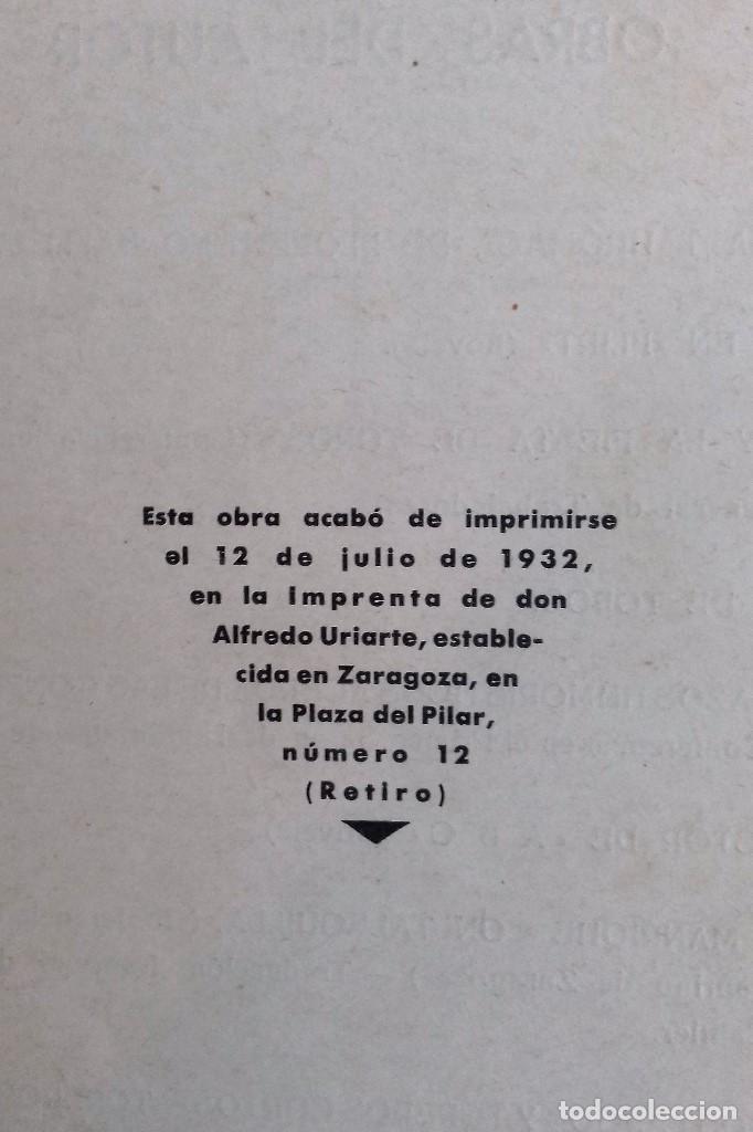 Libros antiguos: LOS TOREROS ARAGONESES DON INDALECIO AÑO 1932 ORIGINAL (NO HA SIDO REENCUADERNADO ) - Foto 2 - 110957951