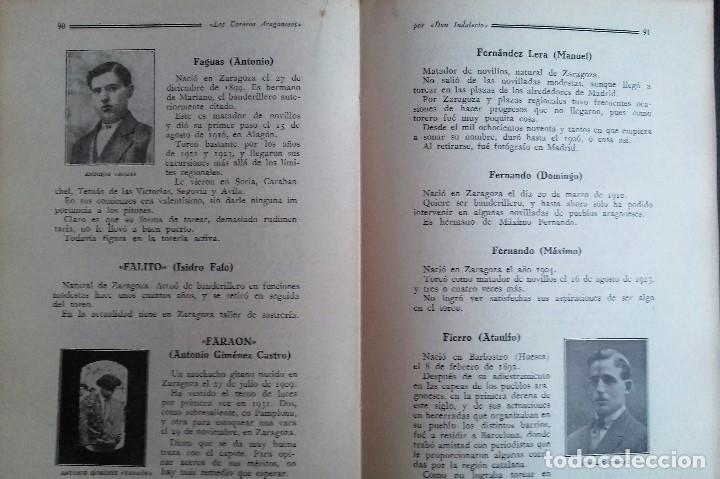 Libros antiguos: LOS TOREROS ARAGONESES DON INDALECIO AÑO 1932 ORIGINAL (NO HA SIDO REENCUADERNADO ) - Foto 4 - 110957951