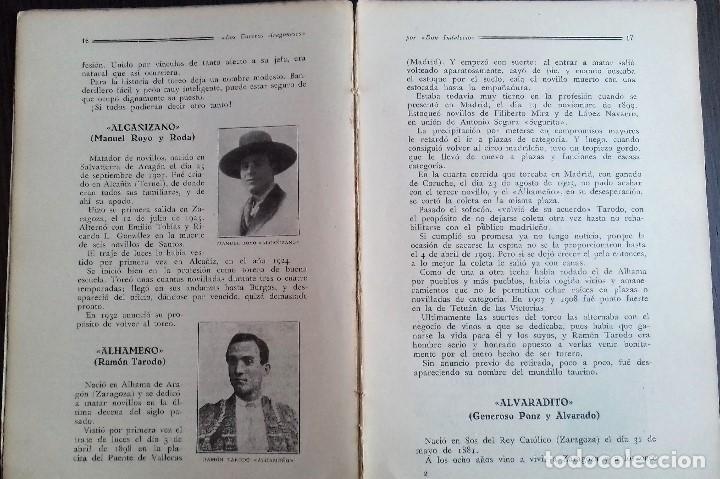 Libros antiguos: LOS TOREROS ARAGONESES DON INDALECIO AÑO 1932 ORIGINAL (NO HA SIDO REENCUADERNADO ) - Foto 5 - 110957951