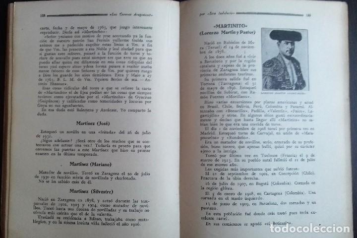 Libros antiguos: LOS TOREROS ARAGONESES DON INDALECIO AÑO 1932 ORIGINAL (NO HA SIDO REENCUADERNADO ) - Foto 6 - 110957951