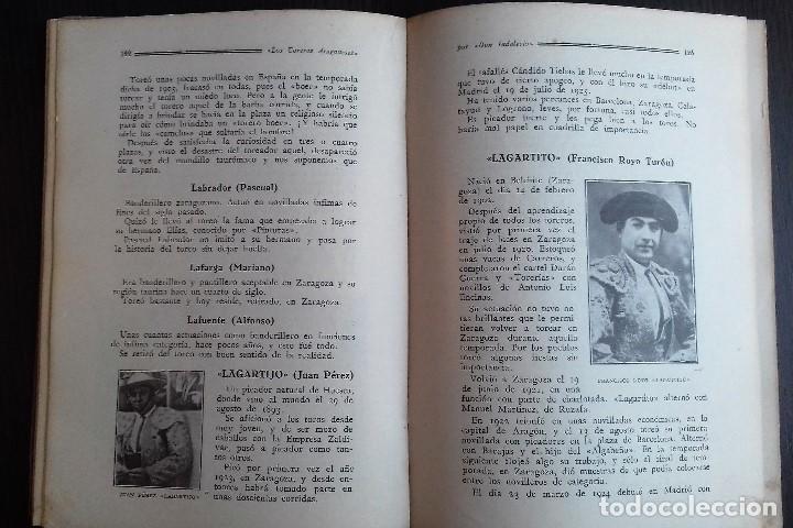 Libros antiguos: LOS TOREROS ARAGONESES DON INDALECIO AÑO 1932 ORIGINAL (NO HA SIDO REENCUADERNADO ) - Foto 7 - 110957951