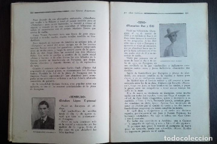 Libros antiguos: LOS TOREROS ARAGONESES DON INDALECIO AÑO 1932 ORIGINAL (NO HA SIDO REENCUADERNADO ) - Foto 8 - 110957951