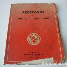 Alte Bücher - RECETARIO INFRA-GRILL TURMIX BERRENS - 110960363
