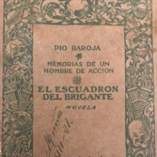 Livros antigos: EL ESCUADRÓN DEL BRIGANTE, PIO BAROJA, 1913 MADRID. Lote 110962254