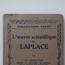 Libros antiguos: L'OEUVRE SCIENTIFIQUE DE LAPLACE. Lote 30153686