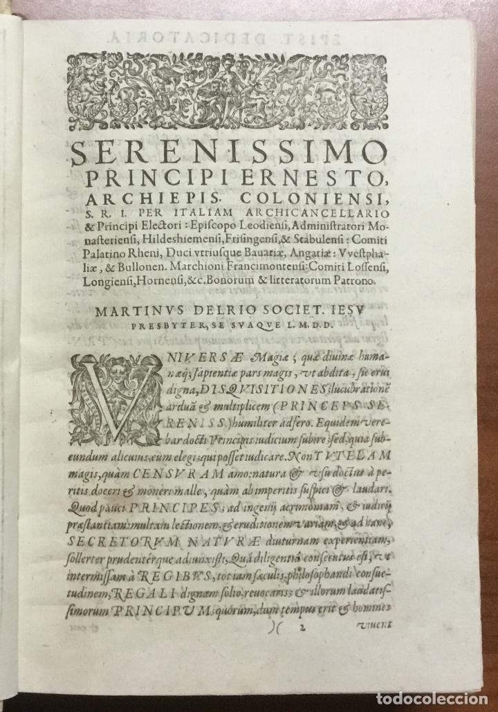 Libros antiguos: DISQUISITIONUM MAGICARUM LIBRI SEX. In tres tomos partiti. Tomus primus nunc secundis curis auctior - Foto 2 - 109022018