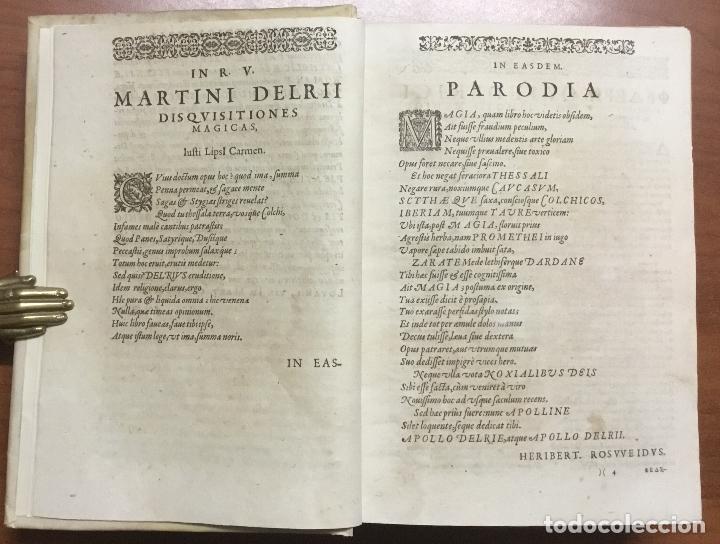 Libros antiguos: DISQUISITIONUM MAGICARUM LIBRI SEX. In tres tomos partiti. Tomus primus nunc secundis curis auctior - Foto 3 - 109022018