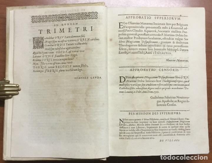 Libros antiguos: DISQUISITIONUM MAGICARUM LIBRI SEX. In tres tomos partiti. Tomus primus nunc secundis curis auctior - Foto 5 - 109022018