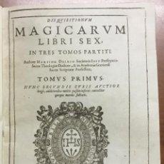 Libros antiguos: DISQUISITIONUM MAGICARUM LIBRI SEX. IN TRES TOMOS PARTITI. TOMUS PRIMUS NUNC SECUNDIS CURIS AUCTIOR. Lote 109022018