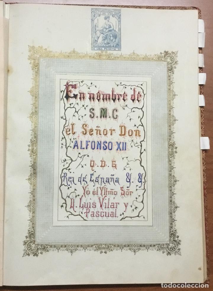 Libros antiguos: REAL DESPACHO DE NOBLEZA Y ARMAS DE DON MANUEL LÓPEZ GAMUNDI VILLANUEVA Y OMS. Manuscrito Ejecutoria - Foto 4 - 109020935