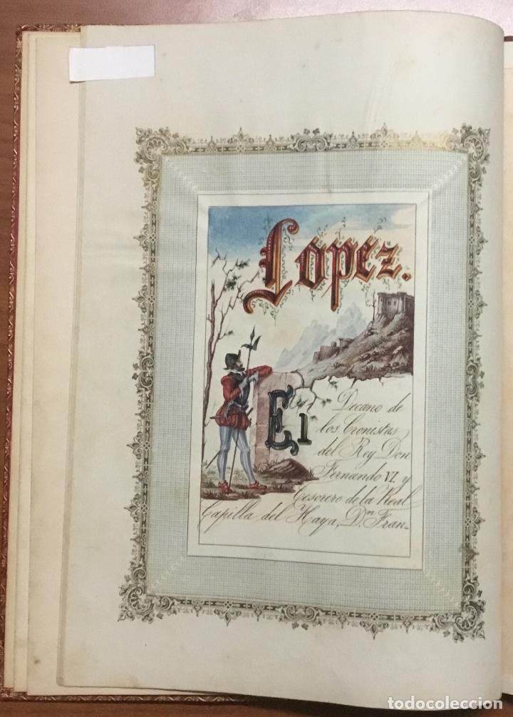 Libros antiguos: REAL DESPACHO DE NOBLEZA Y ARMAS DE DON MANUEL LÓPEZ GAMUNDI VILLANUEVA Y OMS. Manuscrito Ejecutoria - Foto 5 - 109020935