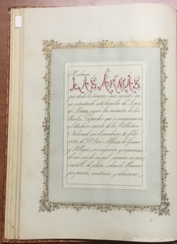 Libros antiguos: REAL DESPACHO DE NOBLEZA Y ARMAS DE DON MANUEL LÓPEZ GAMUNDI VILLANUEVA Y OMS. Manuscrito Ejecutoria - Foto 6 - 109020935