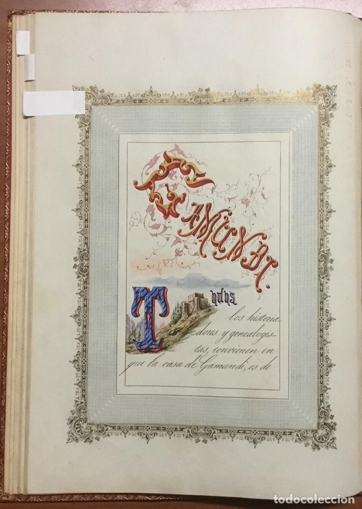 Libros antiguos: REAL DESPACHO DE NOBLEZA Y ARMAS DE DON MANUEL LÓPEZ GAMUNDI VILLANUEVA Y OMS. Manuscrito Ejecutoria - Foto 8 - 109020935