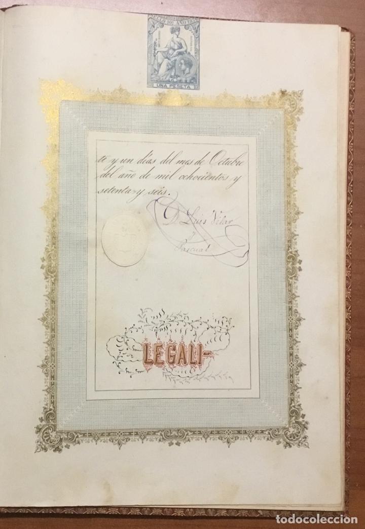 Libros antiguos: REAL DESPACHO DE NOBLEZA Y ARMAS DE DON MANUEL LÓPEZ GAMUNDI VILLANUEVA Y OMS. Manuscrito Ejecutoria - Foto 9 - 109020935