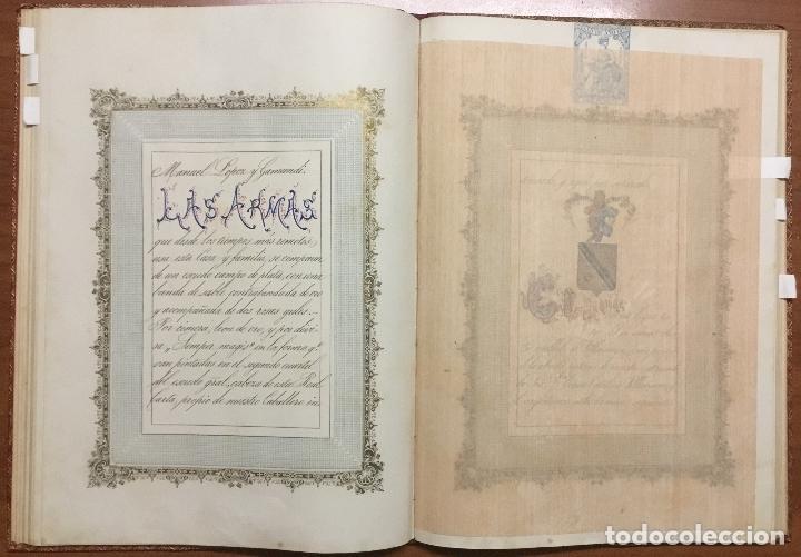 Libros antiguos: REAL DESPACHO DE NOBLEZA Y ARMAS DE DON MANUEL LÓPEZ GAMUNDI VILLANUEVA Y OMS. Manuscrito Ejecutoria - Foto 10 - 109020935