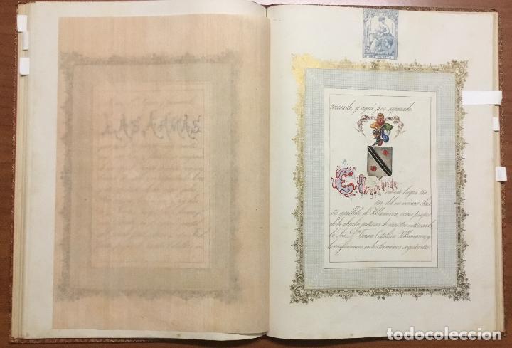 Libros antiguos: REAL DESPACHO DE NOBLEZA Y ARMAS DE DON MANUEL LÓPEZ GAMUNDI VILLANUEVA Y OMS. Manuscrito Ejecutoria - Foto 11 - 109020935