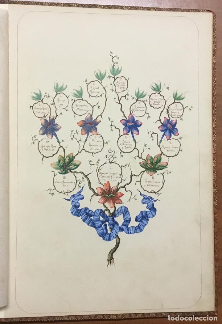 Libros antiguos: REAL DESPACHO DE NOBLEZA Y ARMAS DE DON MANUEL LÓPEZ GAMUNDI VILLANUEVA Y OMS. Manuscrito Ejecutoria - Foto 13 - 109020935