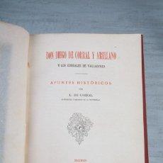 Libros antiguos: DON DIEGO DE CORRAL Y ARELLANO Y LOS CORRALES DE VALLADOLID-APUNTES HISTÓRICOS-L. DE CORRAL-1905. Lote 111140163