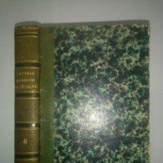 Libros antiguos: LETTRES DE MADAME DE SÉVIGNÉ 1843 AVEC LES NOTES DE TOUS LES COMMENTATEURS TOME SIXIÉME . Lote 111165879