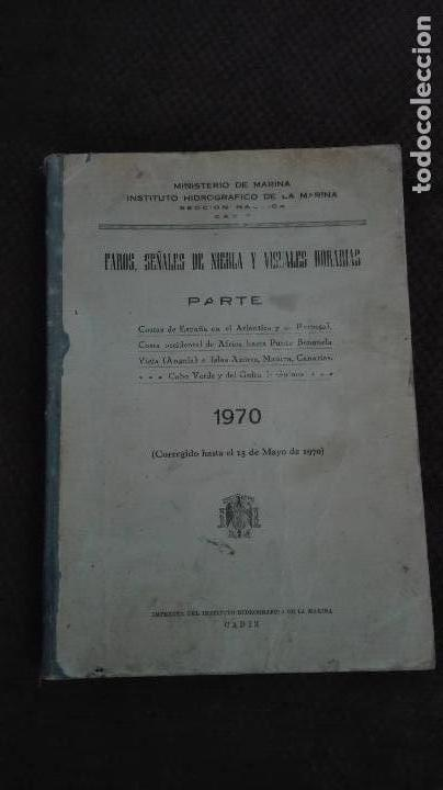 MINISTERIO DE MARINA INSTITUTO HIDROGRAFICO DE LA MARINA-1970 (Libros Antiguos, Raros y Curiosos - Pensamiento - Otros)