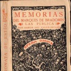 Libros antiguos: RAMON DEL VALLE INCLÁN : SONATA DE ESTÍO (RIVADENEYRA, 1928). Lote 111367632