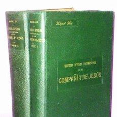 Libros antiguos: HISTORIA INTERNA DOCUMENTADA DE LA COMPAÑIA DE JESUS. (DOS TOMOS).. Lote 111427207