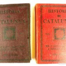 Libros antiguos: L-4667. HISTÒRIA DE CATALUNYA.CURS SUPERIOR.FERRAN VALLS-TABERNER I FERRAN SOLDEVILA.2 LLIBRES.1922 . Lote 111454263