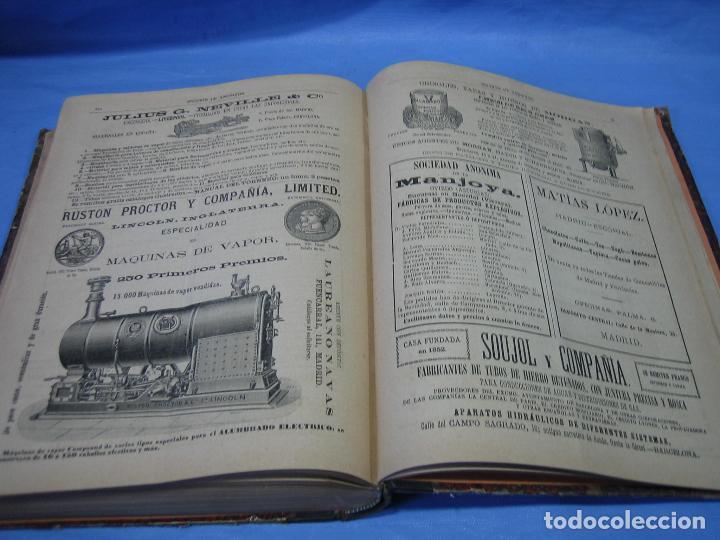 Libros antiguos: La gaceta industrial. Económica y científica 1890. Revista de electricidad - Foto 5 - 111460379