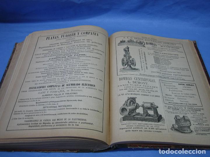 Libros antiguos: La gaceta industrial. Económica y científica 1890. Revista de electricidad - Foto 7 - 111460379
