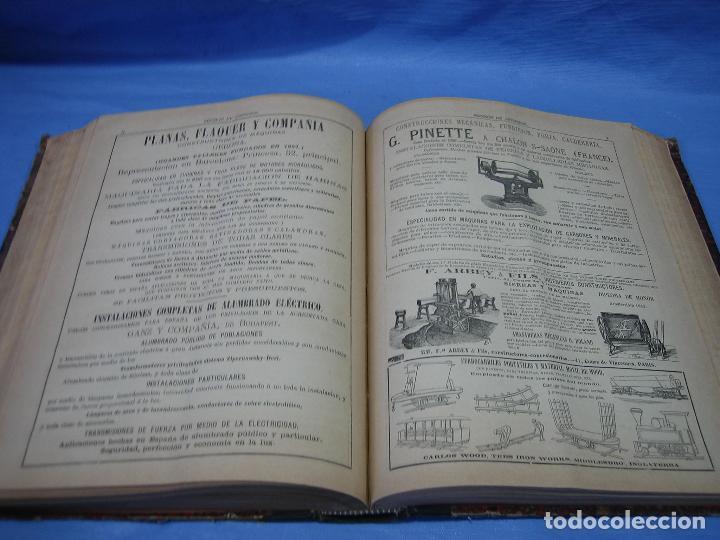 Libros antiguos: La gaceta industrial. Económica y científica 1890. Revista de electricidad - Foto 8 - 111460379